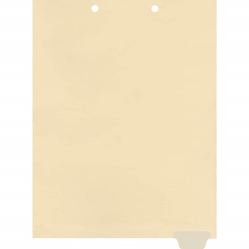 Medical Arts Press Match Write-On End Tab Chart Dividers- Blank, Tab Position 6- Clear (100/Pkg) (56841)