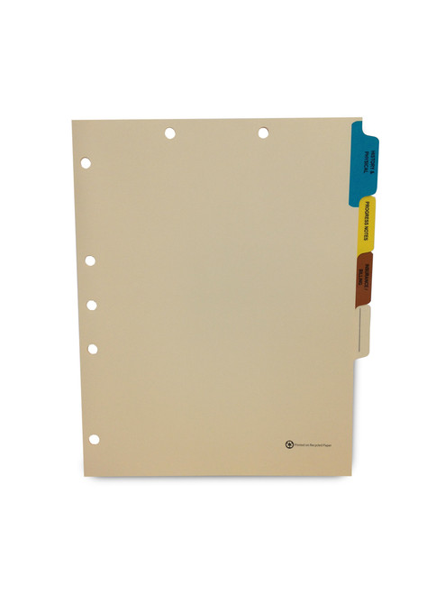 Medical Arts Press Match Medical Chart Index Dividers- 4 Tabs, Letter Size, Manila, Side Tab (100 Sets/Box)