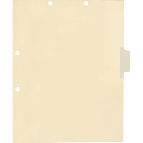 Medical Arts Press Match Write-On Side Tab Chart Dividers- Blank, Tab Position 3- Clear (100/Pkg) (56832)
