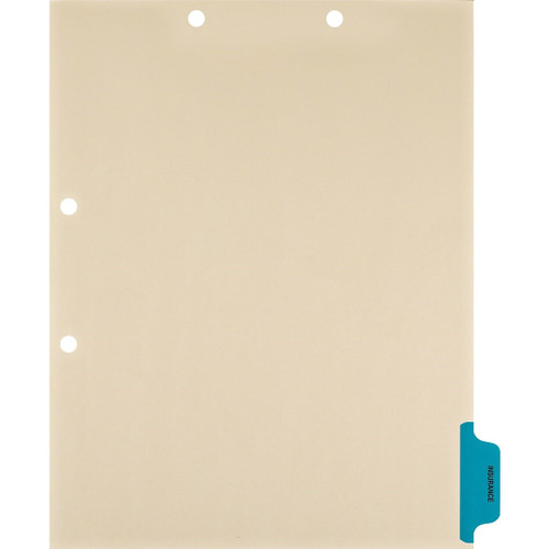"Medical Arts Press Match Colored Side Tab Chart Dividers- ""Insurance"" - Tab Position 6 - Medium Blue (100/Pkg) (56791)"