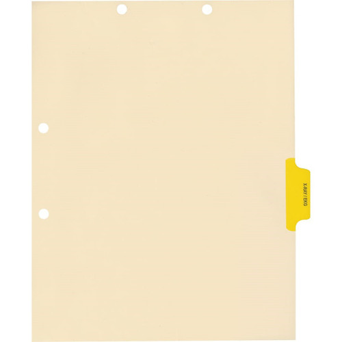 Medical Arts Press Match Colored Side Tab Chart Dividers- X-Ray/EKG, Tab Position 4- Yellow (100/Pkg) (56781)
