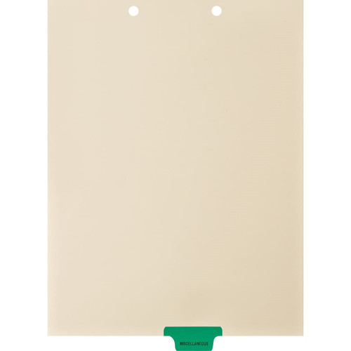 Medical Arts Press Match Colored End Tab Chart Dividers- Miscellaneous, Tab Position 4- Green (100/Pkg) (56813)