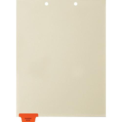 Medical Arts Press Match Colored End Tab Chart Dividers- Progress Notes, Tab Position 1- Orange (100/Pkg) (56799)