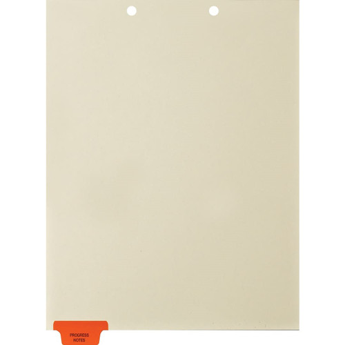 Medical Arts Press Match Colored End Tab Chart Dividers- Progress Notes, Tab Position 1- Orange (100/Pkg) (56799)