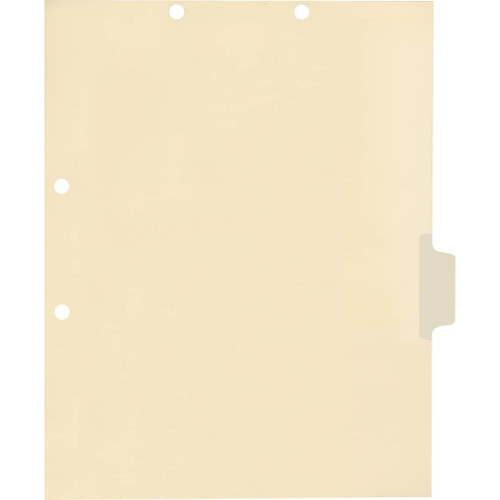 Medical Arts Press Match Write-On Side Tab Chart Dividers- Blank, Tab Position 4- Clear (100/Pkg) (56833)
