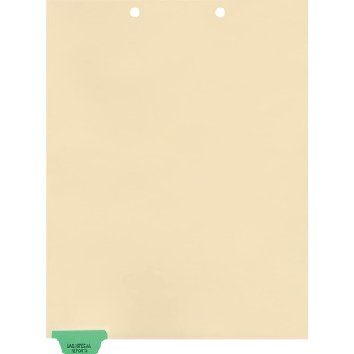 Medical Arts Press Match Colored End Tab Chart Dividers- Lab/Special Reports, Tab Position 1- Green (100/Pkg) (56796)