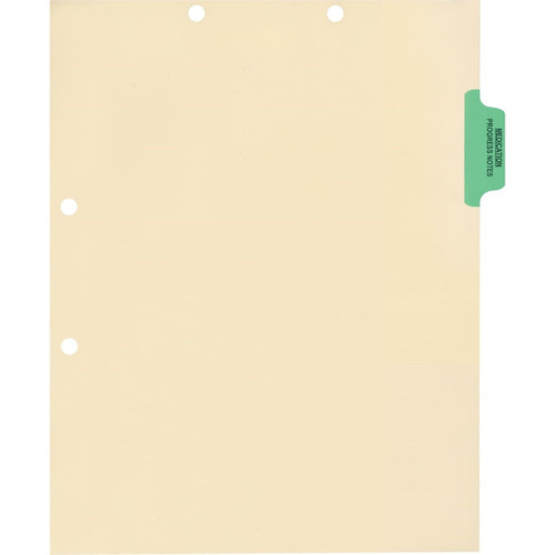 Medical Arts Press Match Colored Side Tab Chart Dividers- Medication/Progress Notes, Position 2 (100/Pkg) (56768)