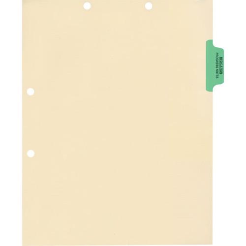 Medical Arts Press Match Colored Side Tab Chart Dividers- Medication/Progress Notes, Position 2 (100/Pkg) (56768)
