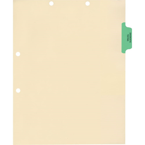 Medical Arts Press Match Colored Side Tab Chart Dividers- Diagnostic Testing, Position 2 (100/Pkg) (56765)