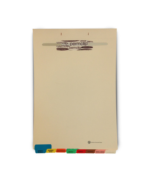 Medical Arts Press Match Fileback Dividers with 8 Index Tabs- Manila, End Tab (20 Sets/Box)