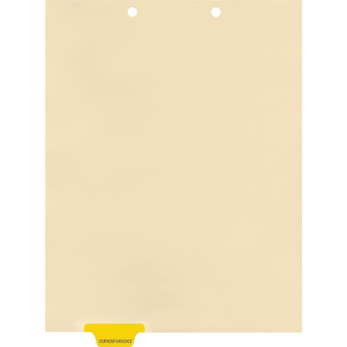 Medical Arts Press Match Colored End Tab Chart Dividers- Correspondence, Tab Position 2- Yellow (100/Pkg) (56800)