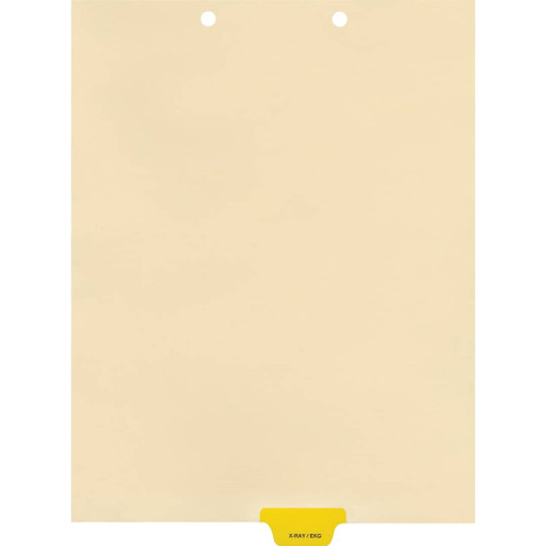 Medical Arts Press Match Colored End Tab Chart Dividers- X-Ray/EKG, Tab Position 4- Yellow (100/Pkg) (56817)