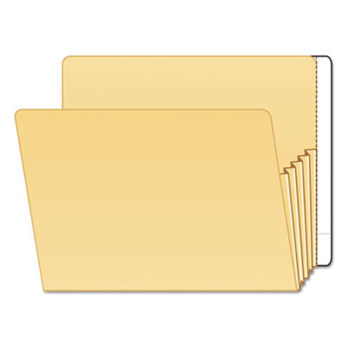 "Tabbies 55993 - Extenda-Jacket Strip, Apply to Back of Folder - Color White - 9 1/2""H x 3-1/4""W with 3/4"" tab extension - 100/Box"