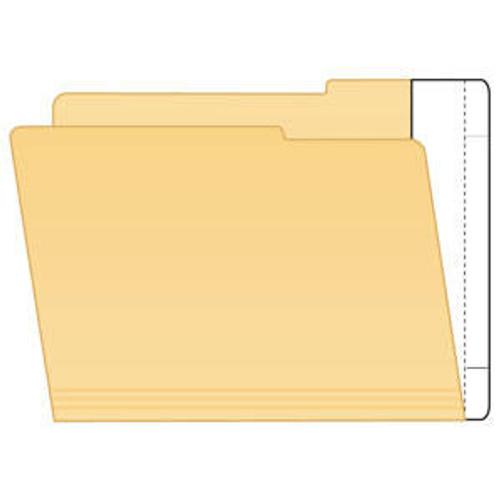 "File Folder End Tab Converter Extenda Strips - 9-1/2"" H x 2"" W (3/4"" Tab Extension) - Apply to Inside of Back Folder Panel - White - 100/Box"