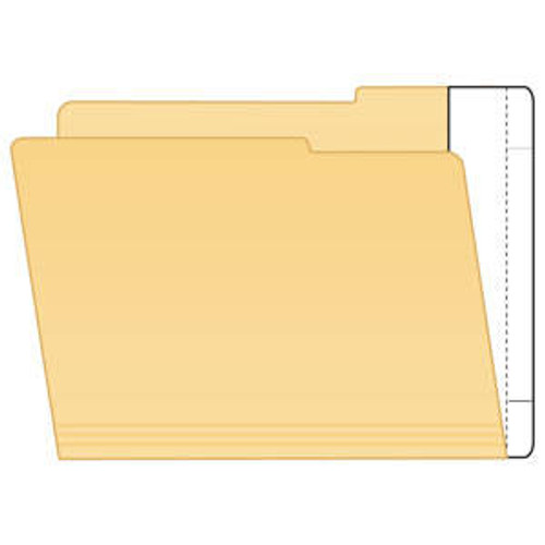 "File Folder End Tab Converter Extenda Strips - 9-1/2"" H x 2"" W (3/4"" Tab Extension) - Apply to Inside of Back Folder Panel - White - 100/Box"