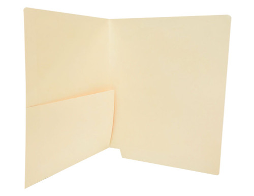 Medical Arts Press Match Manila End Tab Pocket Folders- Letter Size, 11pt (250/Carton)