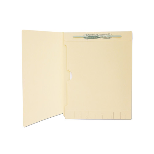 Medical Arts Press Match Manila End Tab Folders with Full Pocket and 1 Permclip Fastener (50/Box)