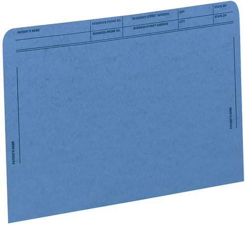 Medical Arts Press Match File Pockets with Printed Patient Grid- Blue, Letter Size, 50/Box (59547BL)