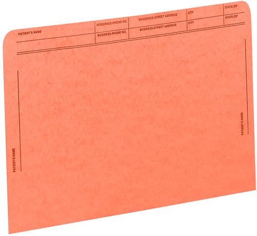 Medical Arts Press Match File Pockets with Printed Patient Grid- Orange, Letter Size, 50/Box (59547OR)