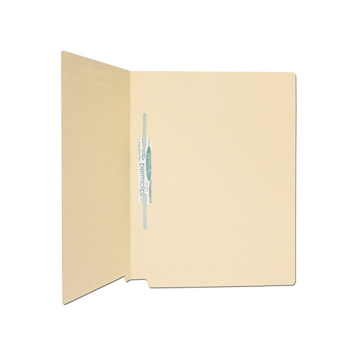 Medical Arts Press Match 11pt Full Cut End Tab File Folders with 1 Permclip Fastener- Letter Size (250/Carton)