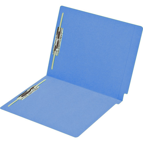 Medical Arts Press Match Colored End Tab File Folders with 2 Permclip Fasteners- Dark Blue, Letter Size, 15pt (50/Box)