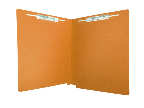 Medical Arts Press Match Colored End Tab File Folders with 2 Permclip Fasteners- Dark Orange, Letter Size, 11pt (50/Box)