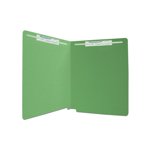 Medical Arts Press Match Colored End Tab File Folders with 2 Permclip Fasteners- Dark Green, Letter Size, 11pt (50/Box)