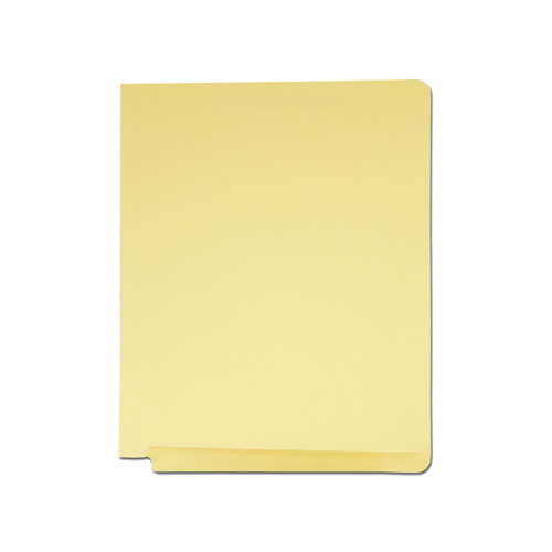 Medical Arts Press Match Colored End Tab File Folders with 2 Permclip Fasteners- Canary Yellow, Letter Size, 11pt (50/Box)