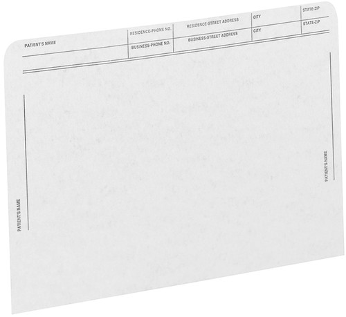 Medical Arts Press Match File Pockets with Printed Patient Grid- White, Letter Size, 50/Box