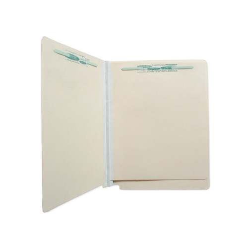 Medical Arts Press Match Economy Classification Folders with 2 Dividers and 6 Permclip Fasteners- Manila, End Tab, 18pt (20/Box)