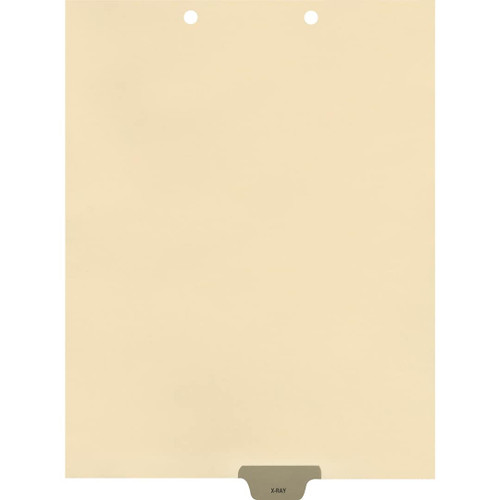 Medical Arts Press Match Colored End Tab Chart Dividers- X-Ray, Tab Position 4- Gray (100/Pkg) (56816)