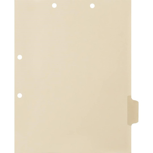 Medical Arts Press Match Write-On Side Tab Chart Dividers- Blank, Tab Position 5- Clear (100/Pkg) (56834)