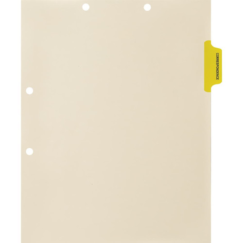 Medical Arts Press Match Colored Side Tab Chart Dividers- Correspondence, Position 2 (100/Pkg) (56764)