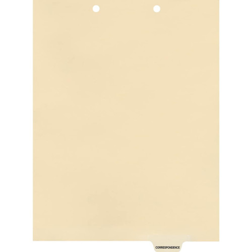 Medical Arts Press Match Colored End Tab Chart Dividers- Correspondence, Tab Position 5- Clear (100/Pkg) (56819)