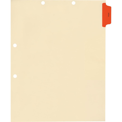 Medical Arts Press Match Colored Side Tab Chart Dividers- HIPAA, Position 1 (100/Pkg) (56696)