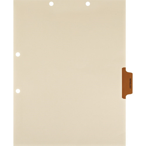 Medical Arts Press Match Colored Side Tab Chart Dividers- Pathology, Tab Position 4- Brown (100/Pkg) (56778)