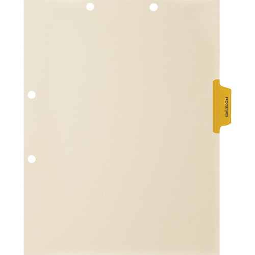 Medical Arts Press Match Colored Side Tab Chart Dividers- Procedures, Tab Position 3- Amber (100/Pkg) (56774)