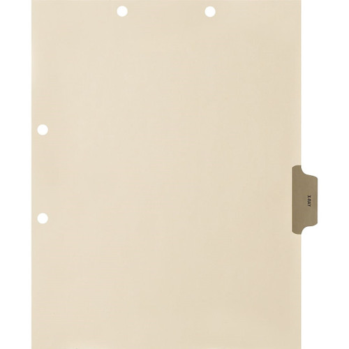 Medical Arts Press Match Colored Side Tab Chart Dividers- X-Ray, Tab Position 4- Gray (100/Pkg) S-09530