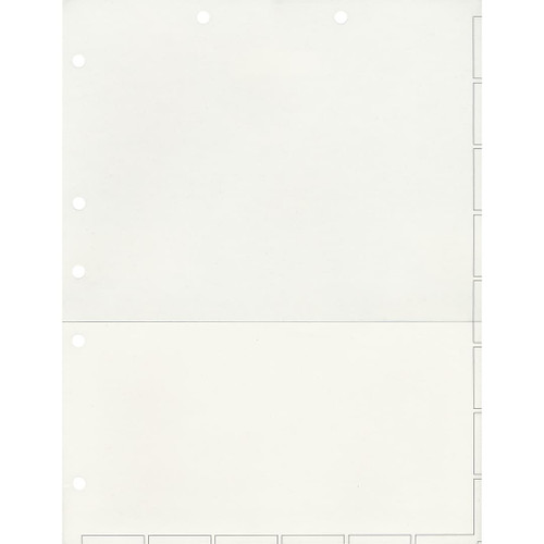 Medical Arts Press Match Chart Divider Sheets with Pocket- White, Small Tab (50/Pkg) (52413)