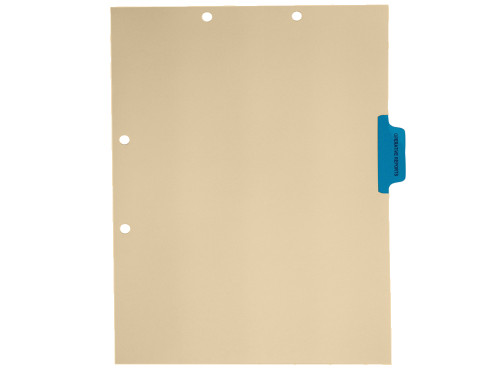 Medical Arts Press Match Colored Side Tab Chart Dividers- Operative Reports, Tab Position 3- Blue (100/Pkg) (56772)