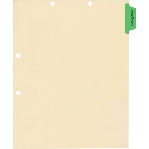 Medical Arts Press Match Colored Side Tab Chart Dividers- Lab/Special Reports, Position 1 (100/Pkg) (56760)