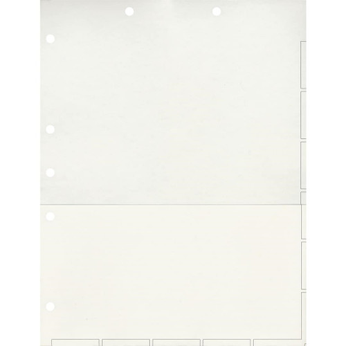 Medical Arts Press Match Chart Divider Sheets with Pocket- White, Large Tab (50/Pkg) (52363)