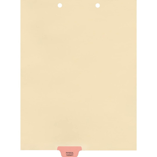 Medical Arts Press Match Colored End Tab Chart Dividers- Physical Therapy, Tab Position 3- Pink (100/Pkg) (56808)