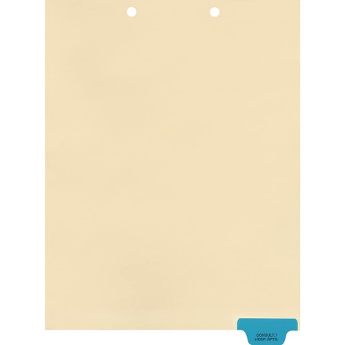 Medical Arts Press Match Colored End Tab Chart Dividers- Consultation/Hospital Reports, Tab Position 6- Blue (100/Pkg) (56825)