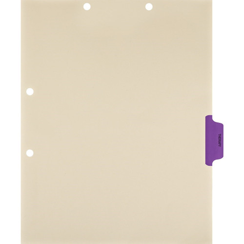 Medical Arts Press Match Colored Side Tab Chart Dividers- Therapy, Tab Position 4- Purple (100/Pkg) (56779)