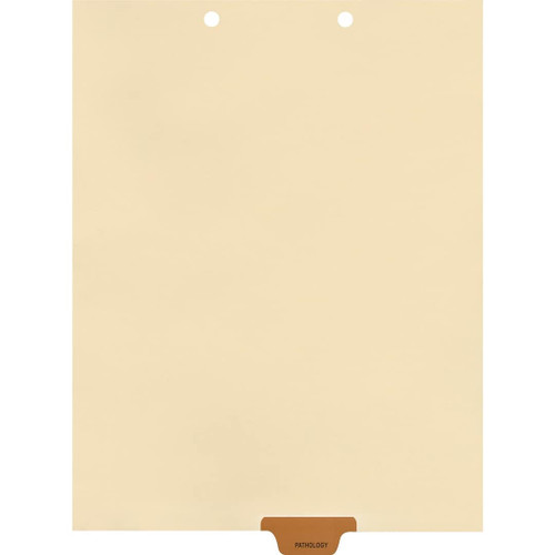 Medical Arts Press Match Colored End Tab Chart Dividers- Pathology, Tab Position 4- Brown (100/Pkg) (56815)