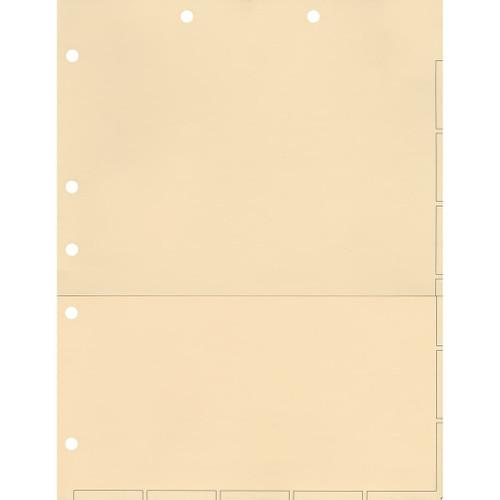 Medical Arts Press Match Chart Divider Sheets with Pocket- Manila, Large Tab (50/Pkg) (52364)