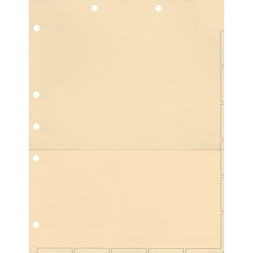 Medical Arts Press Match Chart Divider Sheets with Pocket- Manila, Large Tab (50/Pkg) (52364)
