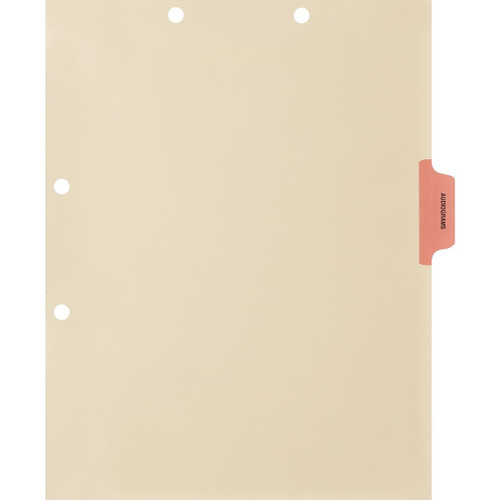 Medical Arts Press Match Colored Side Tab Chart Dividers- Audiograms, Tab Position 3- Pink (100/Pkg) (56770)