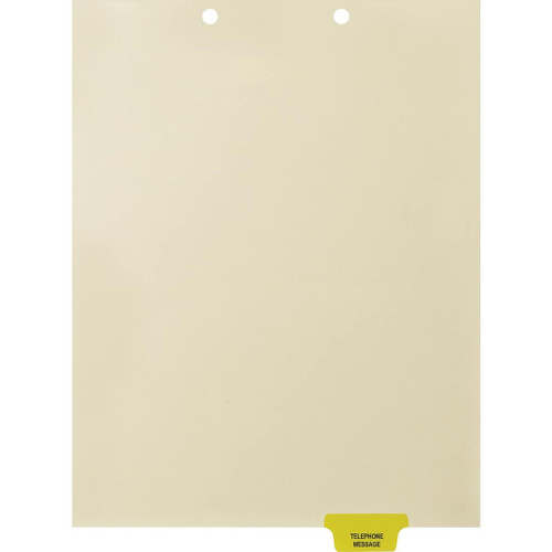Medical Arts Press Match Colored End Tab Chart Dividers- Telephone Message, Tab Position 5- Yellow (100/Pkg) (56823)